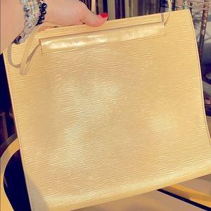 LV Epi Saint Tropez shoulder bag in cream yellow